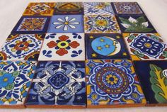 mosaic craft tiles, small canvases
