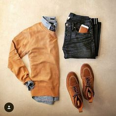 Outfit grid - Browns and blues