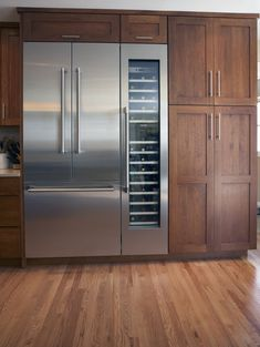 Thermador fully integrated french door ref and wine captain.