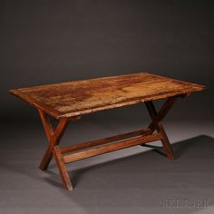 Shaker Pine and Chestnut Laundry Table, Enfield, Connecticut, c. 1840 - Andrews Collection