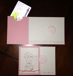 Stampin' up! Baby girl card