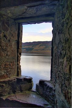 I've looked through and taken this same picture at Urquhart... simply beautiful! looking through the Arrow window at Urquhart Castle by Geoff S., via Flickr