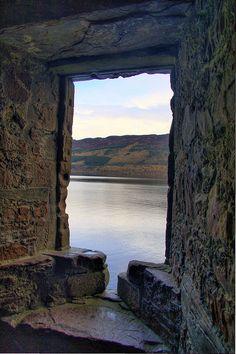 .Arrow window at Urquhart Castle by Geoff S., via Flickr