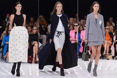 """<Р> Что это значит быть """"современным?""""  Это вопрос Raf Simons спросил себя с этой весны 2015 коллекции для Dior, продолжение его мыслительного процесса от кутюр.  С этой целью, он нырнул глубоко в исторических ссылок (18-го века французский королевский двор наряд-как для мужчин, так и женщин-как полные юбки, лифы, и мужские фраки) и смешивали их с современными, как униформу для школьниц, летчиков, космонавты, и даже фигуристы.  Результат?  Полный жаккардовые юбки в сумма для подарка ..."""