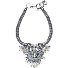 Filini Collection Leonore Swarovski Cristals and Pearls Statement Necklace