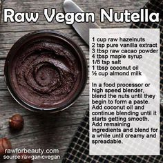 Raw Vegan Nutella  #raw #vegan