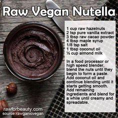 Raw Vegan Nutella  #raw #vegan