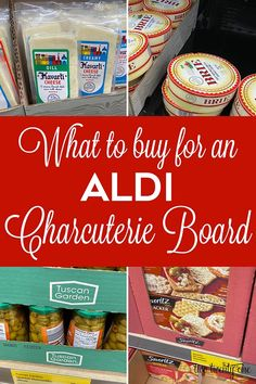 Everything you need to buy to make a great Aldi charcuterie board! Charcuterie Recipes, Charcuterie And Cheese Board, Charcuterie Platter, Cheese Boards, Appetizer Dips, Appetizers For Party, Appetizer Recipes, Aldi Cheese, Wine Cheese