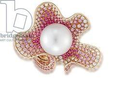 Ring (South Sea cultured pearl, sapphires & diamonds), Anna Hu / Private Collection, Christie's Images