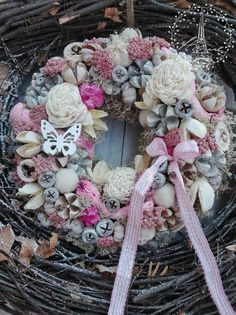 Diy Projects Easter, Projects To Try, Diy Spring Wreath, Burlap Wreath, Easter Bunny, Bunt, Christmas Wreaths, Easy Diy, Wreath Ideas