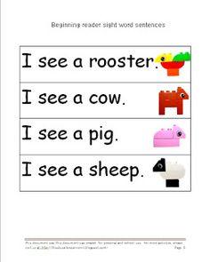 Learn sight words with Duplo - Preschool!