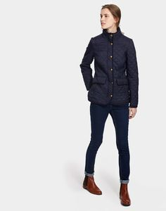 Newdale Marine Navy Quilted Jacket | Joules US