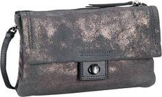 Marc O´Polo Crossbody Bag M Metallic Cow Suede Charcoal - Abendtasche   Clutch