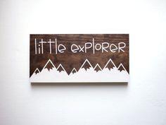 Explore Sign, Little Explorer Sign, Nature Nursery, Adventure Nursery,  Travel Nursery Decor