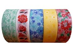 BEST Washi Tape Stylish Set of 5 Rolls. High Quality Creative, Decorative, Re-positional, Masking, Adhesive, Multipurpose Tape for Arts and Crafts, DIY Project, Gift-wrapping, Card-making . Set-spring bloom. L'artisant http://www.amazon.com/dp/B010G449JM/ref=cm_sw_r_pi_dp_VGPuwb14N9SZP