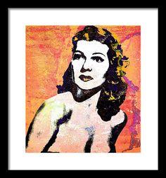 Rita Hayworth Framed Print featuring the mixed media Rita Hayworth by Otis Porritt