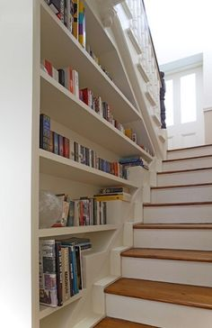 Captivating Lovely Book Shelf Decorating Ideas For Exquisite Staircase Traditional  Design Ideas With Books Bookshelf Staircase Built In Bookshleves Entry  Shelves Split ...