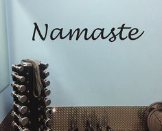 Yoga Wall Decal Namaste Wall Decor Wall Decal by JandiCoGraphix