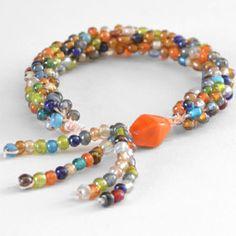 Tasseled Kumihimo Bracelet | AllFreeJewelryMaking.com