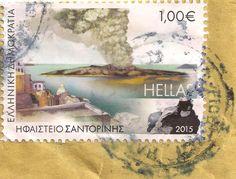 Briefmarke-Europa-Südosteuropa-Griechenland-1.00-2015-Ηφαίστειο Σαντορίνης