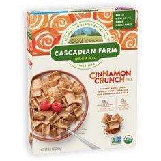 Best Breakfast Cereal, Best Cereal, Breakfast Snacks, Vegan Breakfast, Organic Cereal, Organic Snacks, Cinnamon Cereal, Cinnamon Toast Crunch, Crunch Cereal
