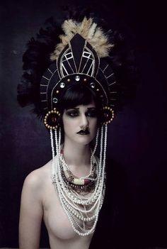 Head dress? Dark vintage belly dance
