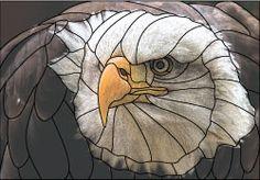 bald eagle head design pattern