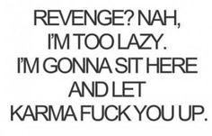 revenge? nah! Karma bus hit you head on didn't it Ellen Faris Bessell???