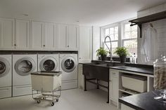 Luxe Laundry Rooms - Design Chic (hanging rack)