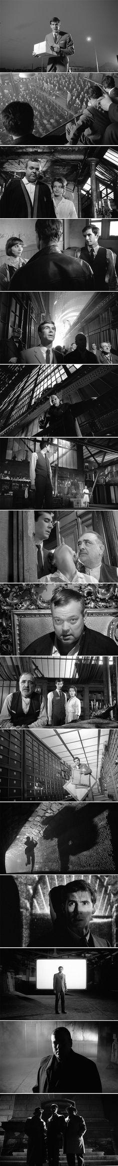 The Trial (1962) Directed by Orson Welles. Cinematography by Edmond Richard. Descubra 25 Filmes que Mudaram a História do Cinema no E-Book Gratuito em http://mundodecinema.com/melhores-filmes-cinema/
