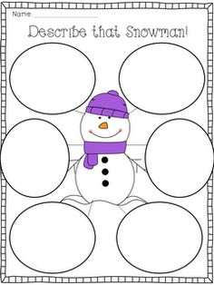 For the Love of First Grade: Describe a Snowman FREEBIE!