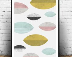 Geometric art print Scandinavian print Geometric by Wallzilla