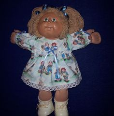 16 inch CABBAGE PATCH DOLL - Raggedy Ann & Andy Dress Outfit