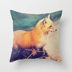 Fox Pillow Cover The Hunt Pillow Equestrian Home Decor Throw Pillow 16 x 16. $37.00, via Etsy.