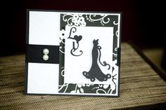 Love Themed Card made using the Cricut Machine and Tie the Knot Cricut Cartridge. www.craft-e-corner.com