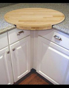 Kitchen cutting board. Put the can right under it!