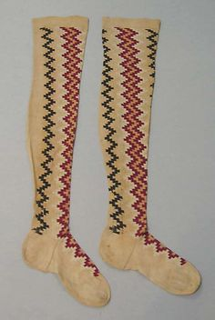 American cotton stockings early 19th century