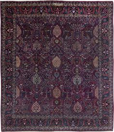 Persian rugs: Persian rug (antique) in purple color, oriental rug, oriental pattern for modern, elegant interior decor #rug #persianrug