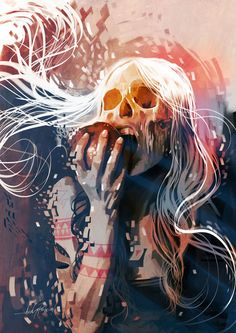 An Explosive Rainbow of Bright Skulls - Javier Gonzalez Pacheco