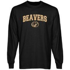 NCAA Bemidji State Beavers Black Mascot Arch Long Sleeve T-shirt $24.95