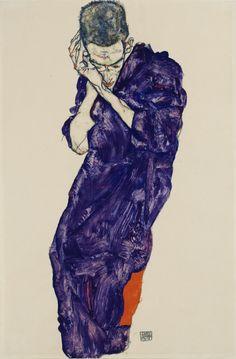 Egon SchieleJüngling in violetter Kutte mit...