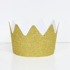 Ruby Rabbit Partyware - Gold Glitter Crown Party Hats