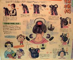 How To Comb A Geisha by Nicote, Easy updos. Geisha Make-up, Geisha Hair, Geisha Japan, Japanese Geisha, Japanese Kimono, Japanese Art, Japanese Style, Ninetales Pokemon, Folklore Japonais