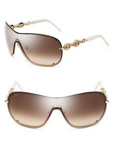 Gucci Chain Link Shield Sunglasses  Bloomingdale's