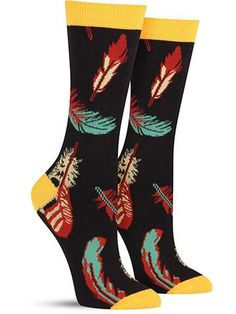 Bamboo Feathers Socks Black