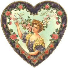 By gone Victorian Valentine Heart Valentine Images, My Funny Valentine, Vintage Valentine Cards, Vintage Holiday, Valentine Heart, Valentine Crafts, Vintage Cards, Vintage Postcards, Vintage Images