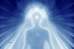 Energy coming down from the Crown Chakra.