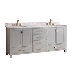 Avanity Modero Chilled Gray 73-In Undermount Double Sink Poplar Bathro