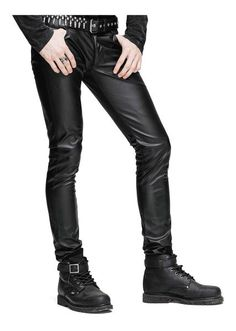 Decode Mens Leather Pants, Mens faux leather (PU) pants with zipper fly, front pockets and back pockets. The Decode leather pants are slim fit and have some stretch to them. Mens Leather Pants, Tight Leather Pants, Men's Leather, Stylish Men, Men Casual, Mens Fashion Quotes, Biker Look, Young Fashion, Male Fashion