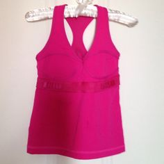 24hSALELululemon  Hot Pink Top 6 Fits like xs- small s. Worn few times. lululemon athletica Tops